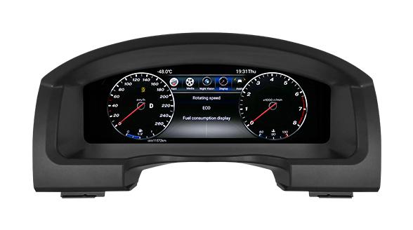 لوحة العدادات من Lanmodo Race لسيارة تويوتا لاند كروزر - بشاشة عرض Full LCD بحجم 12.3 بوصة