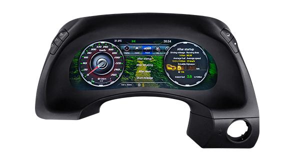 لوحة العدادات من Lanmodo Race لسيارة نيسان باترول Y62 - بشاشة عرض Full LCD بحجم 12.3 بوصة