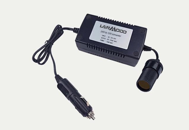 محول Lanmodo لتحويل الجهد من 24 فولت الى 12 فولت